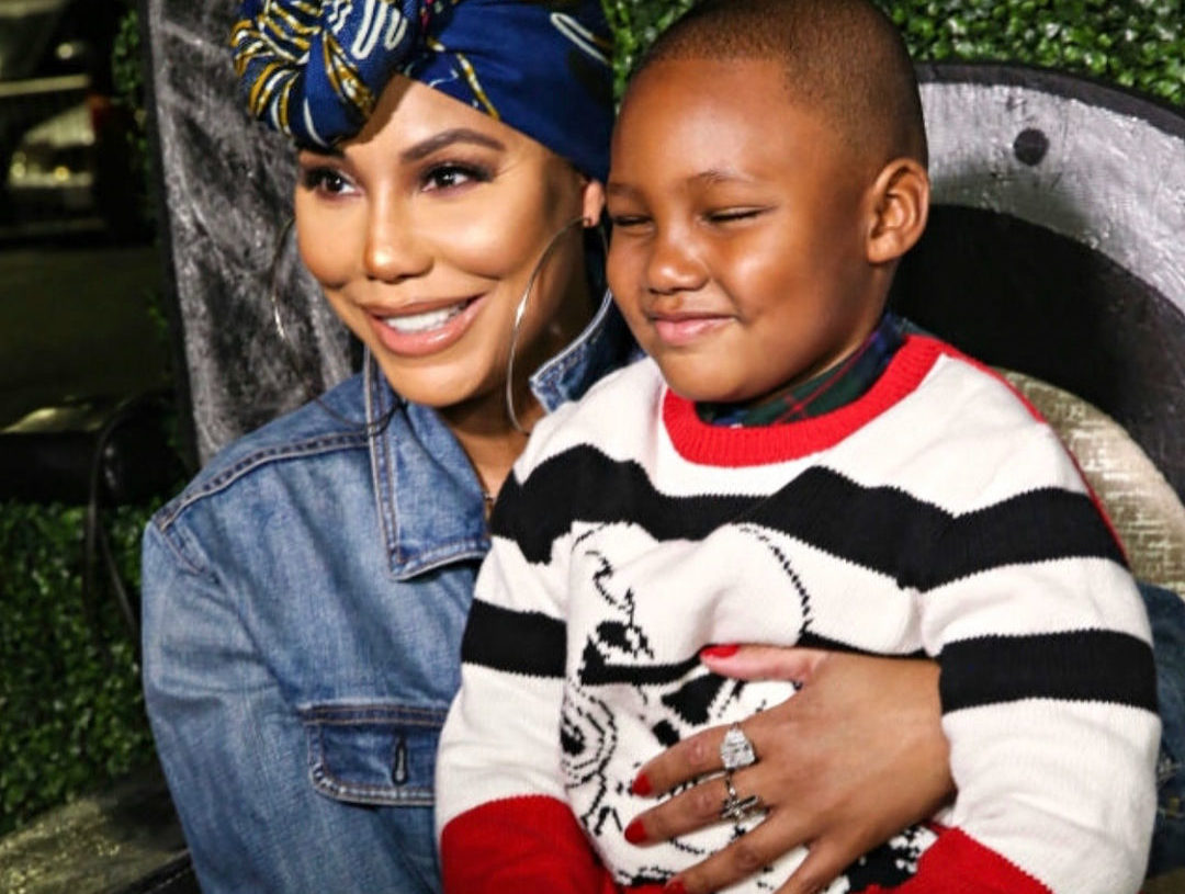 TAMAR BRAXTON AND SON ATTEND 'BLACK PANTHER' PREMIERE IN LOS ANGELES