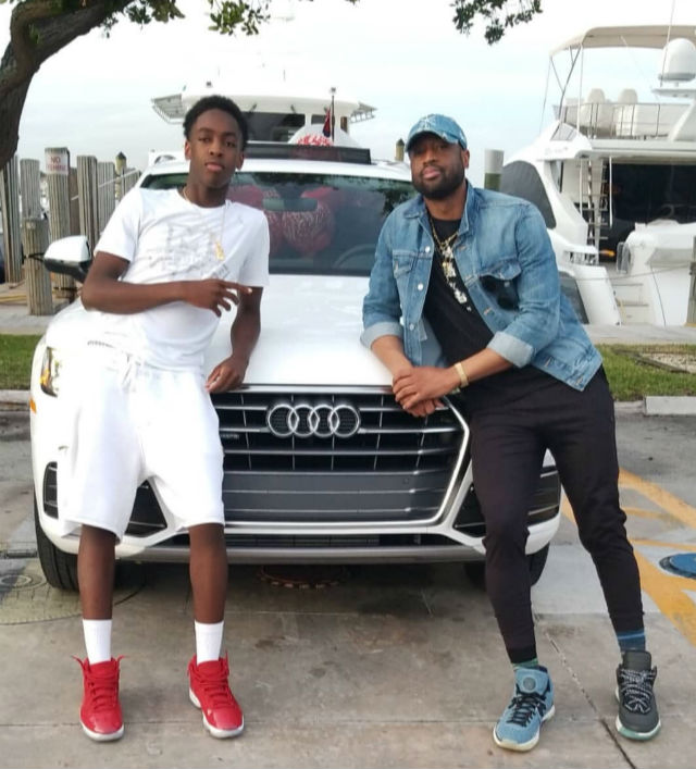 DWYANE WADE GIFTS HIS SON WITH A AN AUDI SUV FOR HIS 16TH