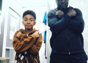 """MILES BROWN AND DAD DANCE TO """"BLACK PANTHER"""" SOUNDTRACK"""