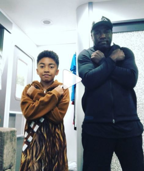 "MILES BROWN AND DAD DANCE TO ""BLACK PANTHER"" SOUNDTRACK"