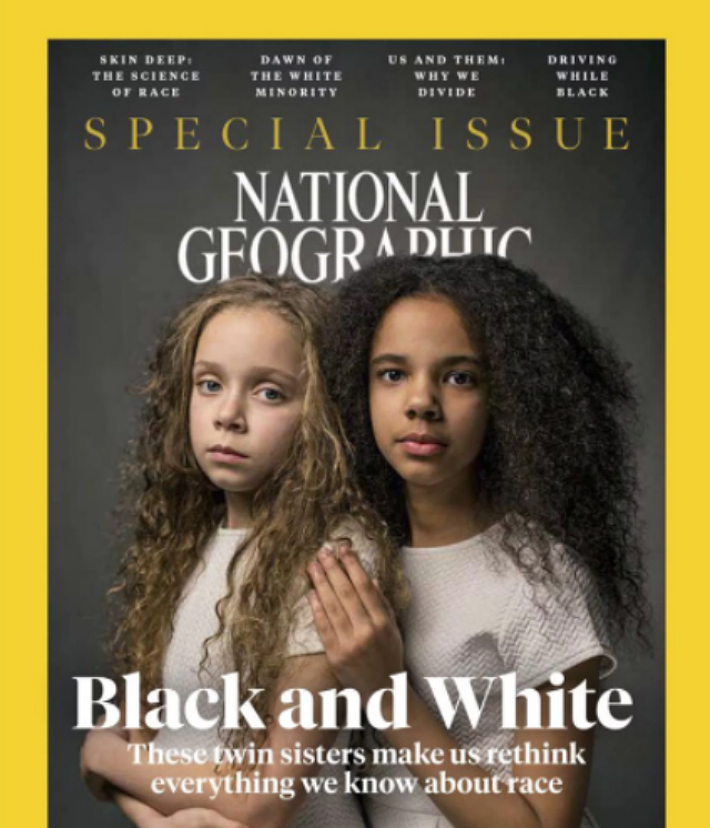 'NATIONAL GEOGRAPHIC' FEATURES BIRACIAL TWINS IN SERIES DISCUSSING RACE