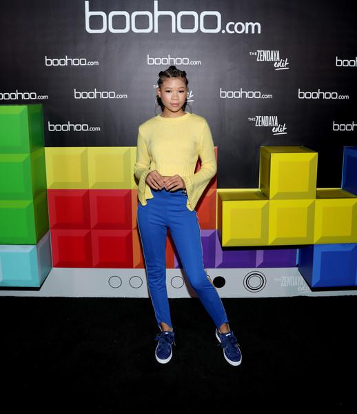 Boohoo Com X Paris Hilton New Collaboration: STORM REID ATTENDS BOOHOO.COM SPRING LAUNCH COLLECTION 90S