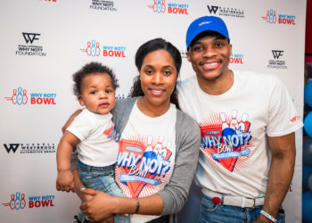 "RUSSELL WESTBROOK AND THE FAMILY HOST ""WHY NOT?"" BOWLING EVENT"
