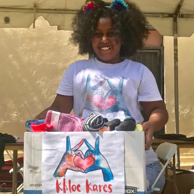KHLOE THOMPSON IS THE 11-YEAR-OLD POSITIVELY IMPACTING SKID ROW