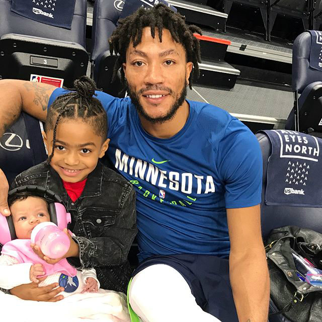 DERRICK ROSE HANGS OUT WITH HIS FAVORITE TWO