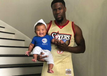 KEVIN HART AND HIS KIDS ARE SIXERS FANS