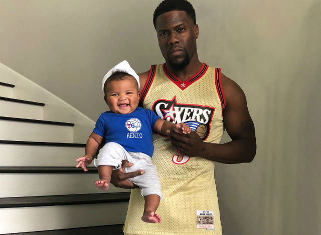 466495d7a KEVIN HART AND HIS KIDS ARE SIXERS FANS