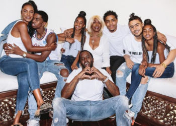 DIDDY AND THE KIDS SPREAD 'POSITIVE ENERGY' ON MOTHER'S DAYS