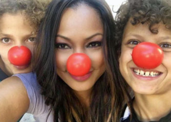 GARCELLE BEAUVAIS JOINS OTHERS IN CELEBRATING RED NOSE DAY
