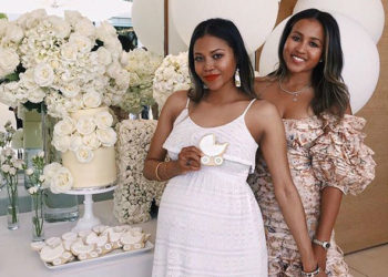 AMERIIE CELEBRATES AT HER BABY SHOWER