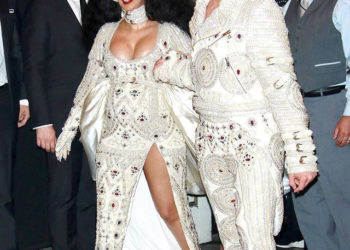 CARDI B SHOWS OFF BABY BUMP IN A PEARL DRESS AT MET GALA 2018