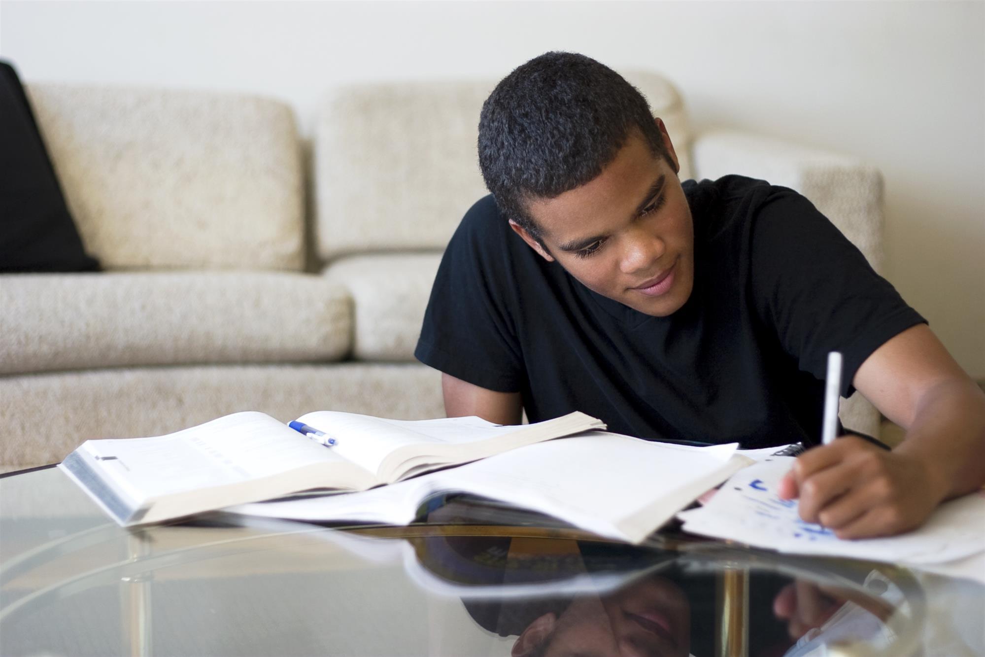 teenager not doing homework