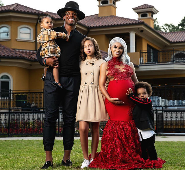 cam newton and girlfriend welcome their third child