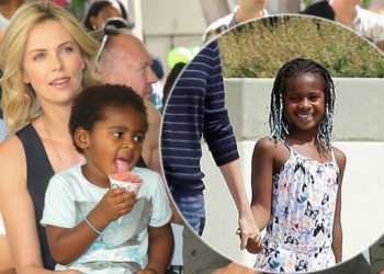 CHARLIZE THERON'S SON WAS SPOTTED ROCKING BRAIDS AND PEOPLE ARE NOT TOO HAPPY ABOUT IT