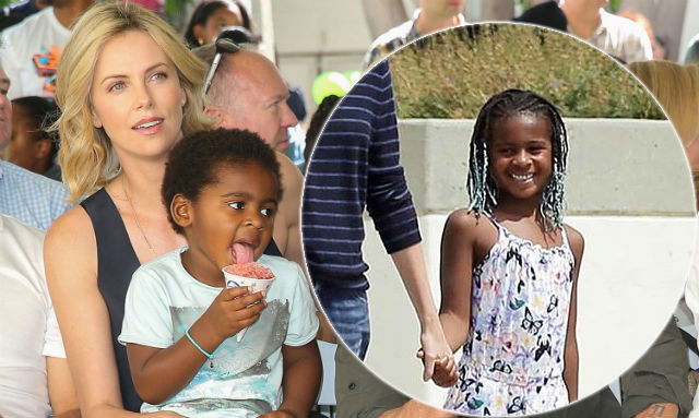 Charlize Therons Son Was Spotted Rocking Braids And People Are Not