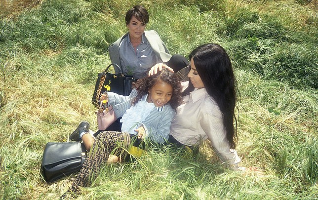 FENDI'S FAMILY-FOCUSED CAMPAIGN STARS KIM KARDASHIAN, DAUGHTER NORTH WEST AND MOM KRIS JENNER