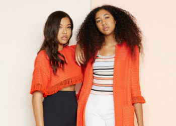 MING AND AOKI SIMMONS MODEL FOR MOM KIMORA LEE SIMMONS' RESORT 2019 COLLECTION