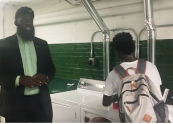 HIGH SCHOOL PRINCIPAL PUTS IN LAUNDRY ROOM TO HELP CURB BULLYING