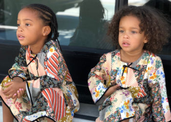 LUDACRIS' LITTLE LADIES LOOK LOVELY IN MATCHING DRESSES