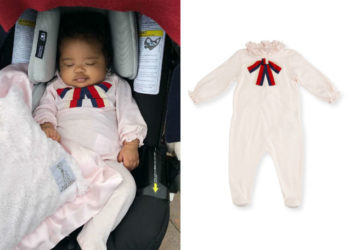 LIFE IS GUCCI FOR THIS BURBERRY BABY