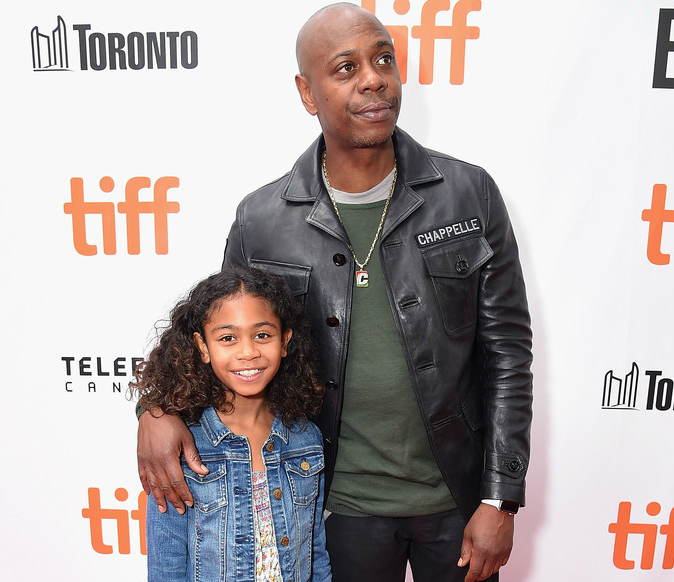 DAVE CHAPPELLE AND DAUGHTER ATTEND TORONTO PREMIERE OF 'A STAR IS BORN'