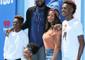 LEBRON JAMES AND FAMILY ATTEND 'SMALLFOOT' PREMIERE IN LOS ANGELES