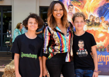 GARCELLE BEAUVAIS AND SONS ATTEND 'GOOSEBUMPS 2' PREMIERE IN CULVER CITY