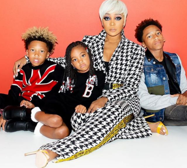 FAMILY HUSTLE! MONICA BROWN AND KIDS PROMOTE T.I. AND TINY'S NEW SERIES 'FRIENDS AND FAMILY HUSTLE'