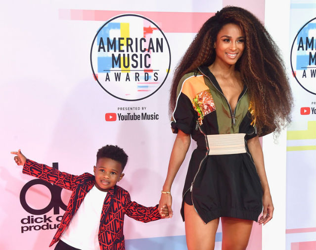 Ciaras Son Future Zahir Wilburn: CIARA AND SON FUTURE ZAHIR ATTEND THE AMERICAN MUSIC AWARDS