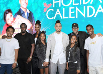 SEAN COMBS AND THE FAMILY SUPPORT QUINCY BROWN AT 'THE HOLIDAY CALENDAR' SCREENING