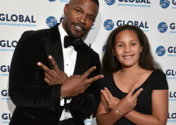 JAMIE FOXX AND FAMILY ATTEND EVENT FOR THE GLOBAL DOWN SYNDROME FOUNDATION