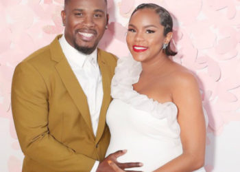 LETOYA LUCKETT AND HUSBAND CELEBRATE AT THEIR BABY SHOWER