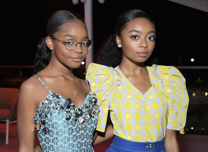 SKAI JACKSON AND MARSAI MARTIN ATTEND INSTYLE'S EVENT