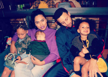 STEPHEN CURRY, WIFE, AND KIDS ARE PICTURE PERFECT