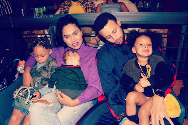 Picture of Stephen  Curry Familly, called Ayesha, Canon, Ryan, Riley