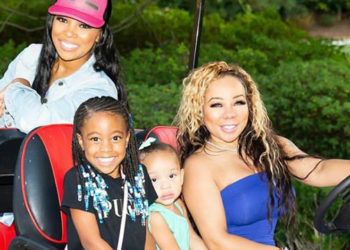 TINY HARRIS AND MONICA BROWN GO GOLF CARTING AROUND TOWN WITH THEIR DAUGHTERS