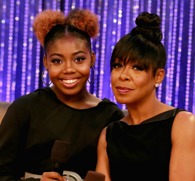 tichina arnold and daughter attend the soul train awards