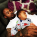 Carl Crawford is pictured with his son Carl Leo Crawford, whose mom is Evelyn Lozada.