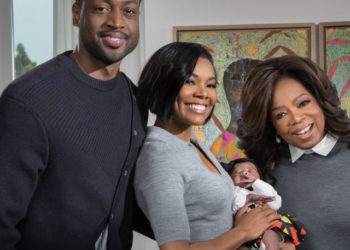 DWYANE WADE AND GABRIELLE UNION INTRODUCE DAUGHTER KAAVIA TO OPRAH