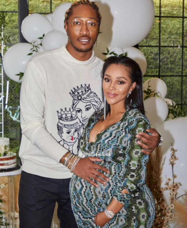 JOIE CHAVIS CELEBRATES AT HER BABY SHOWER WITH RAPPER FUTURE