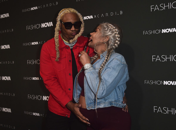 A1 BENTLEY AND LYRICA ANDERSON SUPPORT CARDI B AT FASHION NOVA LAUNCH EVENT