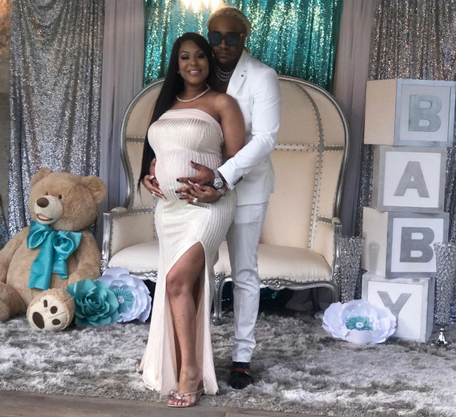 LYRICA ANDERSON AND A1 CELEBRATE AT THEIR BABY SHOWER