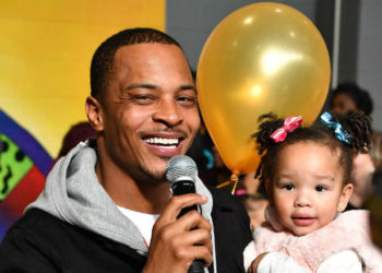 T.I. HARRIS AND DAUGHTER HEIRESS HARRIS HAND OUT THANKSGIVING TURKEYS
