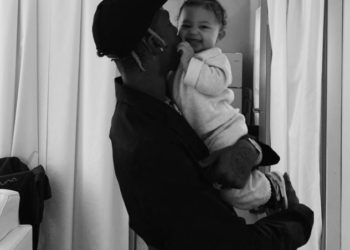 STORMI WEBSTER HANGS OUT WITH DAD TRAVIS SCOTT BACKSTAGE
