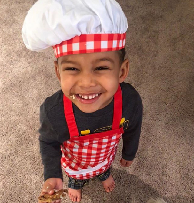 BENZINO AND ALTHEA HEART'S SON IS THE CUTEST CHEF YOU EVER SAW!