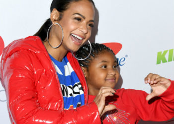 CHRISTINA MILIAN AND DAUGHTER GET IN THE CHRISTMAS SPIRIT AT THE 2018 JINGLE BALL
