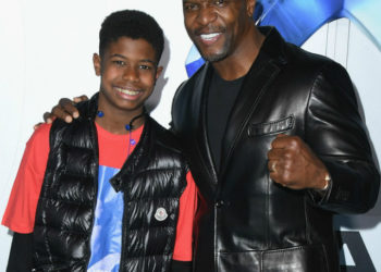 TERRY CREWS AND SON ATTEND 'AQUAMAN' PREMIERE AT TCL CHINESE THEATRE