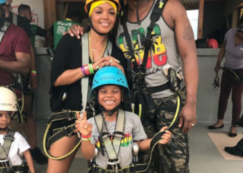 RASHEEDA AND KIRK FROST VACATION WITH THEIR SONS IN JAMAICA