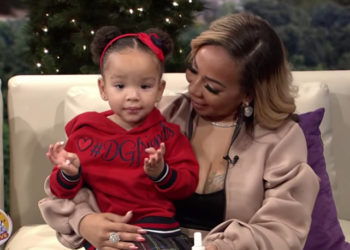 TINY HARRIS AND HER DAUGHTER HEIRESS HARRIS STOP BY 'SISTER CIRCLE'