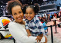 LISA RAYE DOTES ON HER GRANDDAUGHTER